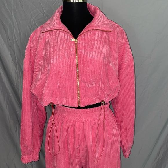 Hot pink jogger set